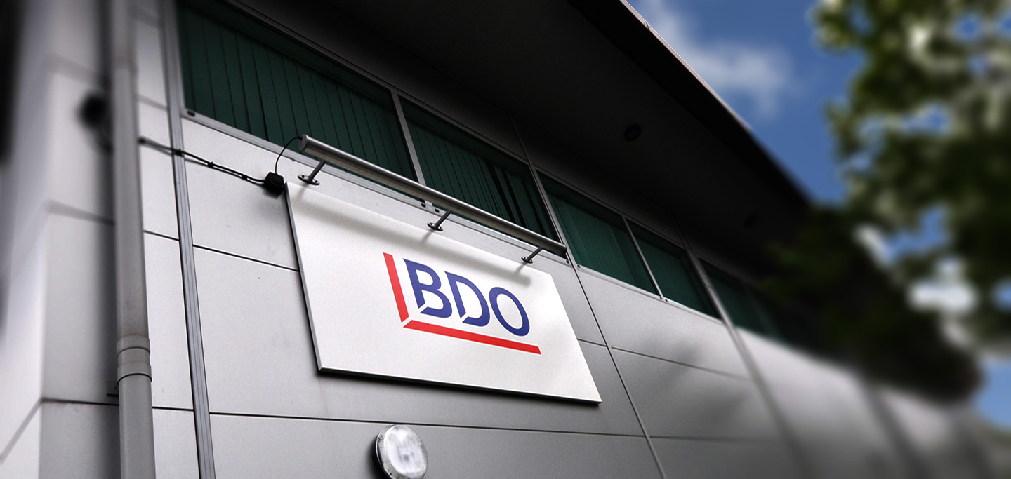 BDO Skyline Sign
