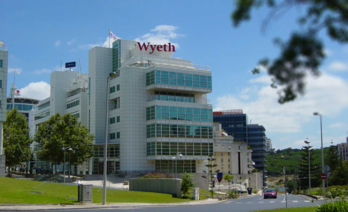 Wyeth Skyline Sign