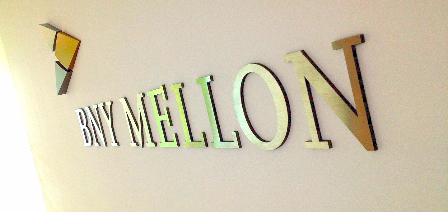 BNY Mellon Reception Signage