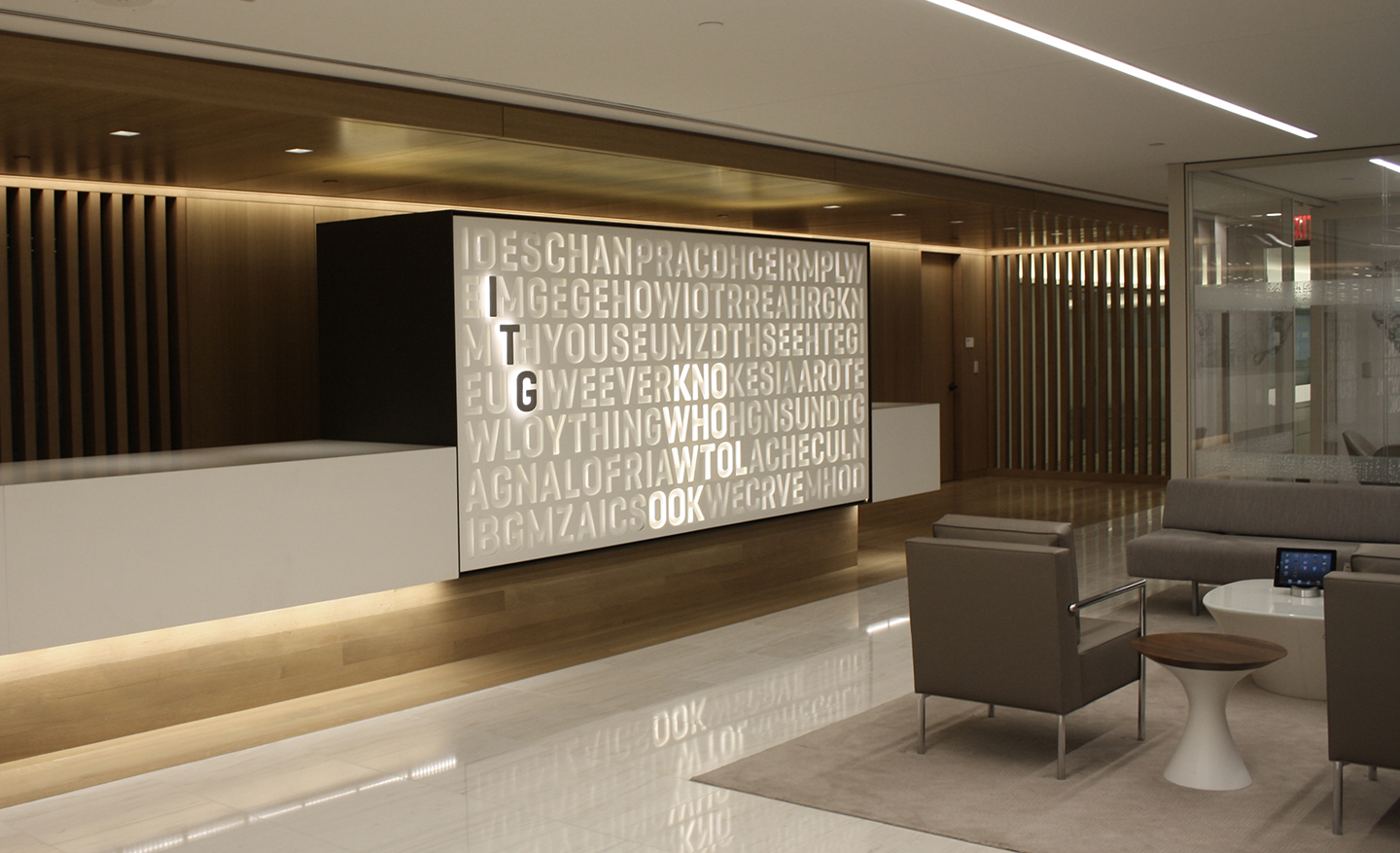 ITG Reception Animated Brand Wall