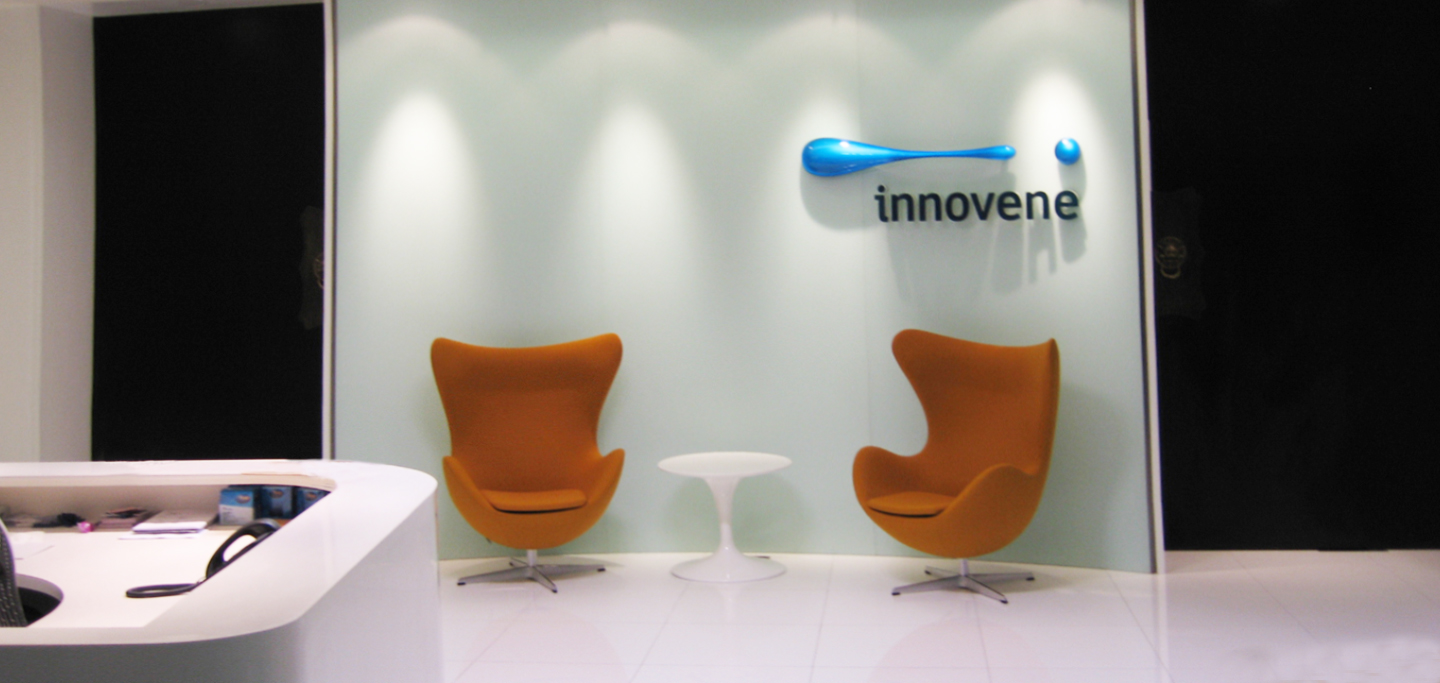 Innovene Head Office Reception Signage