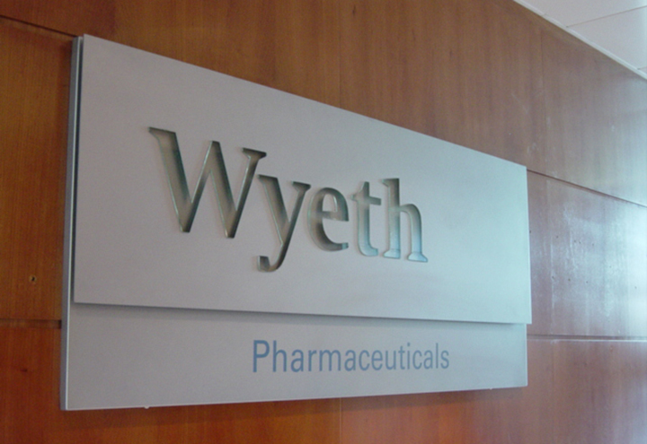 Wyeth Internal Sign
