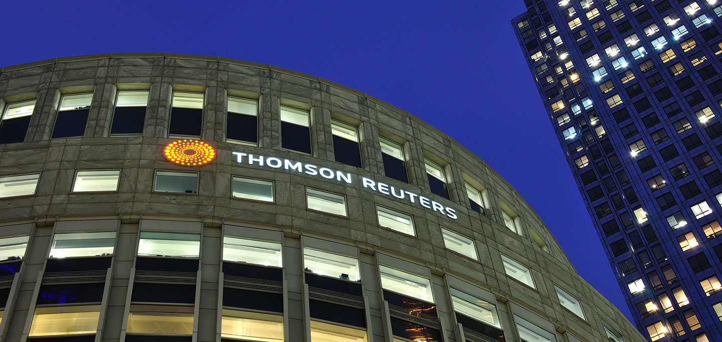 Thomson Reuters Skyline Sign