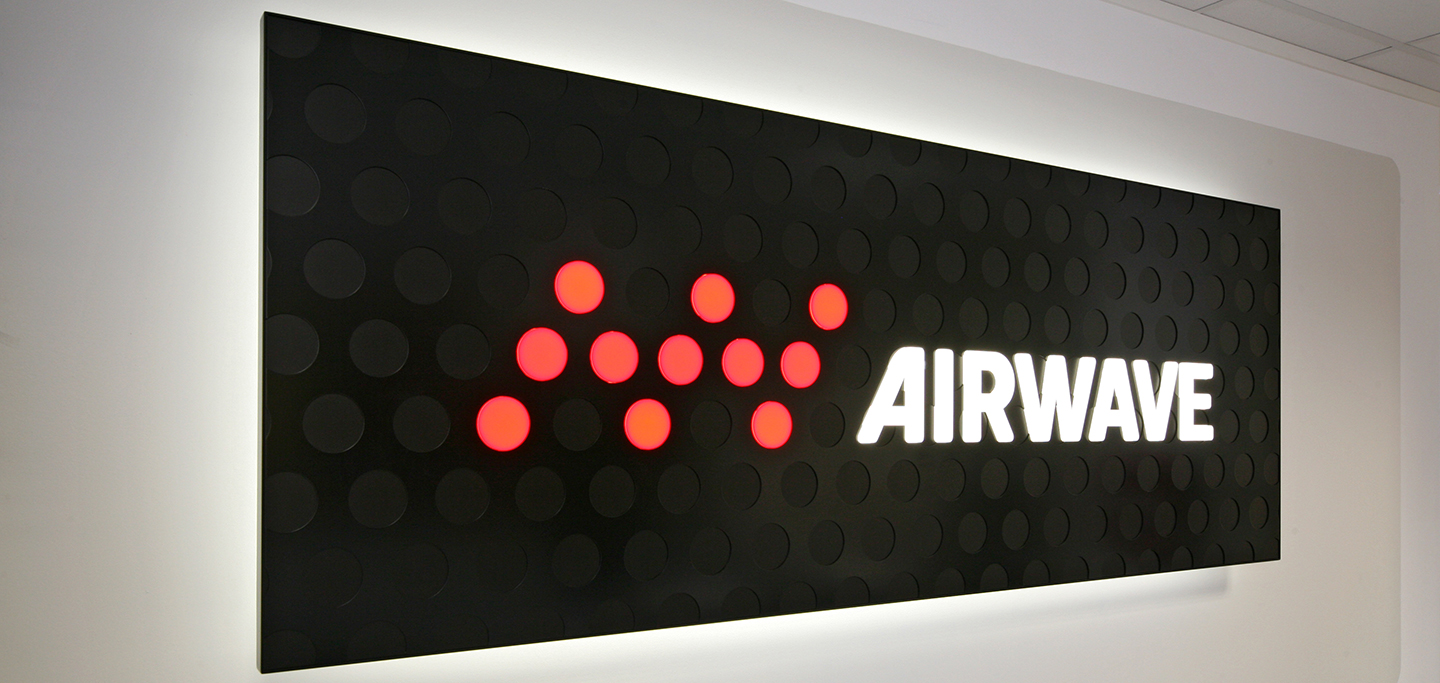 Airwave Branded Reception Signage