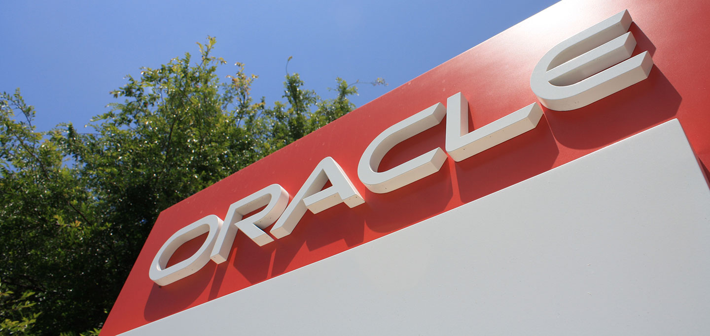 Oracle Site Marker Signage Close Up