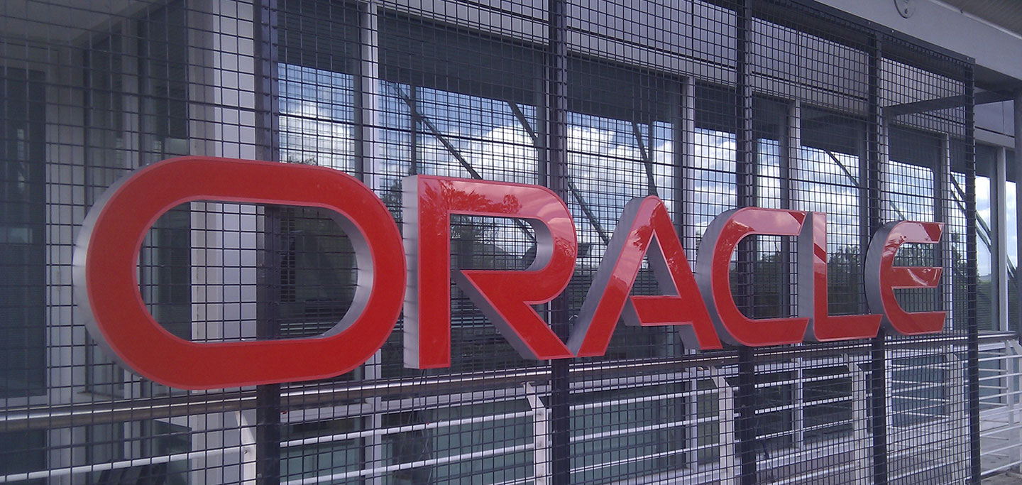 Oracle Sky Sign Signage Close Up