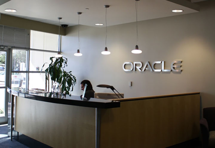 Oracle Reception Wall Signage
