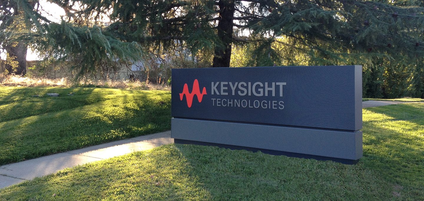 Keysight Monument Sign