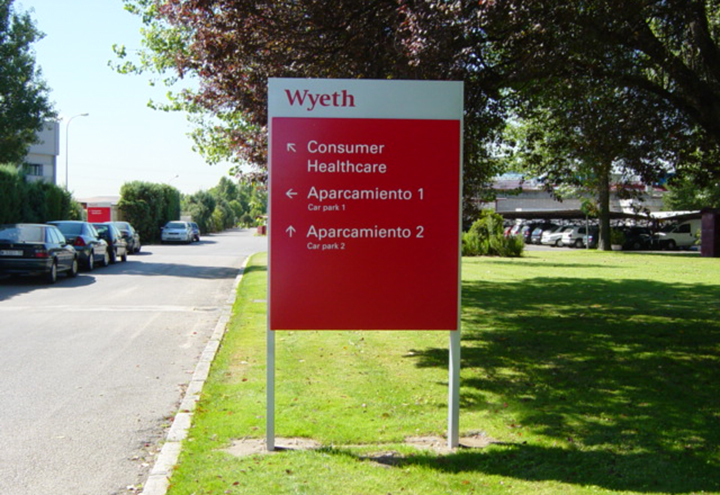 Wyeth Wayfinding Signs