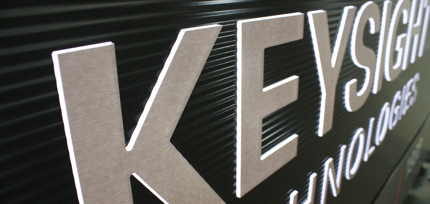 Keysight Monument Sign Close Up